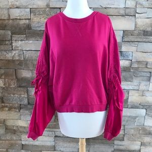 Tops - A Pictures Worth brand fuchsia sweatshirt
